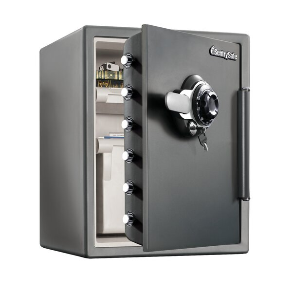 Water Resistant Combination Security Safe with Dial / Combination/Key/Dual-Lock by Sentry Safe
