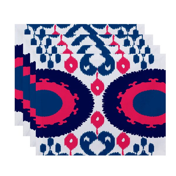 Meetinghouse Boho Geometric Print Placemat (Set of 4) by Bungalow Rose
