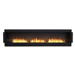 FLEX122 Single Sided Wall Mounted Bio-Ethanol Fireplace Insert By EcoSmart Fire