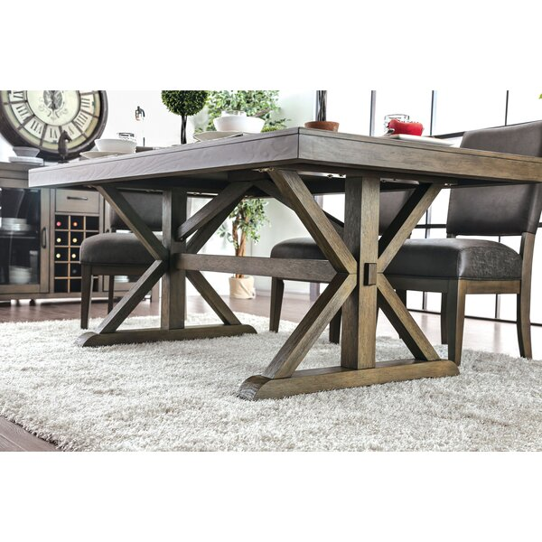 Cascade Trestle Dining Table by Gracie Oaks