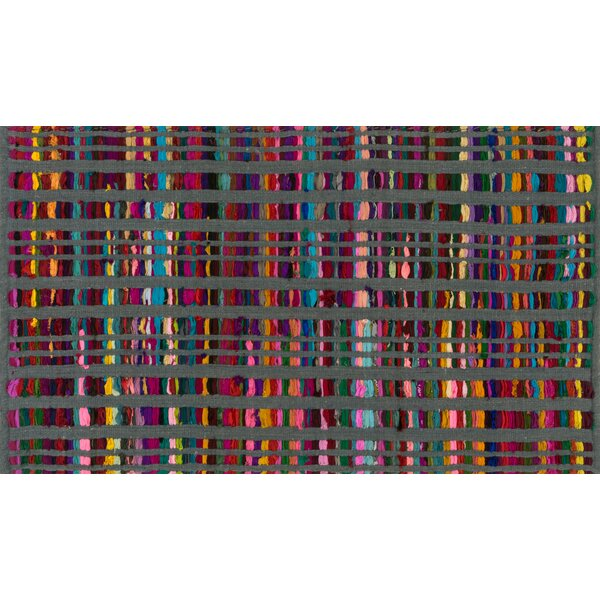Choate Hand-Woven Gray Area Rug by Ebern Designs