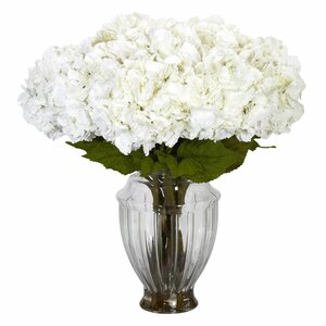 Hydrangea Centerpiece in Decorative Vase