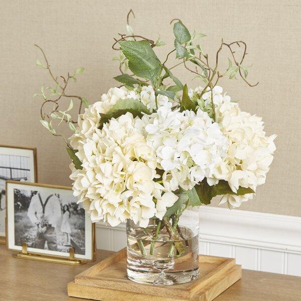 Faux Hydrangea with Vines in Vase by Birch Lane™