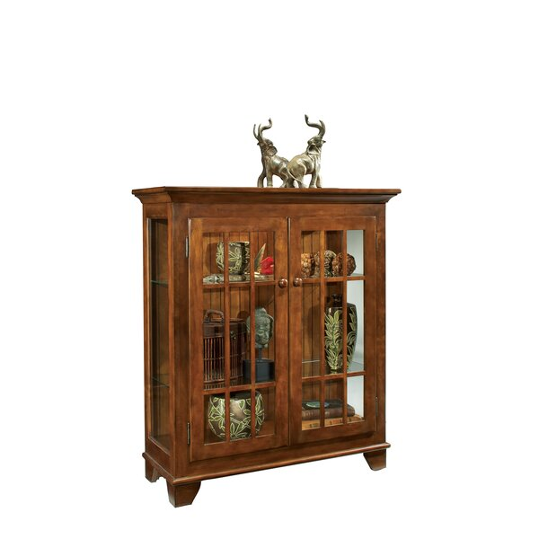 Shelia Lighted Console Curio Cabinet by Darby Home Co