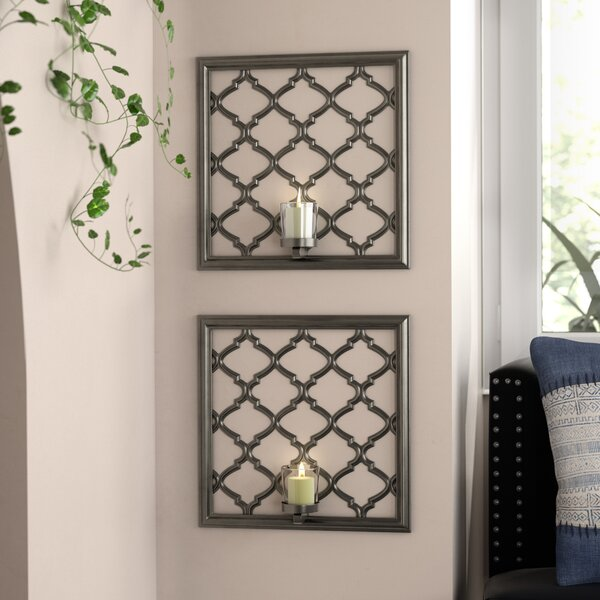 Lattice Sconce (Set of 2) by Bungalow Rose