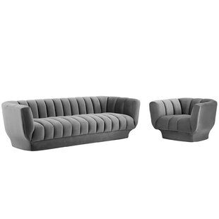 Abagail 2 Piece Living Room Set by Everly Quinn