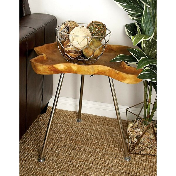 Teak wood and Metal Tray Table by Cole & Grey| @ $371.64