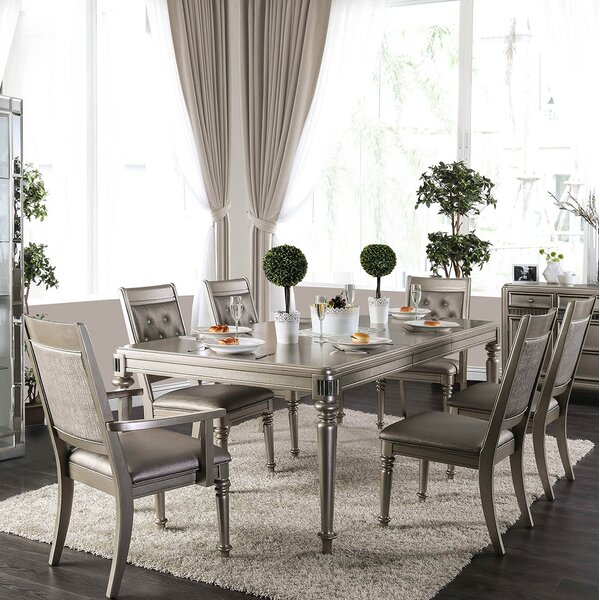 Crystal 7 Piece Dining Set by Rosdorf Park