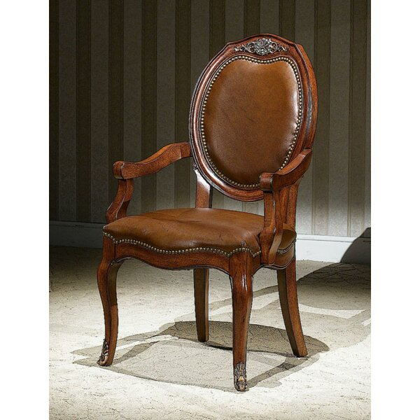 Church Street Genuine Leather Upholstered Dining Chair (Set of 2) by Astoria Grand