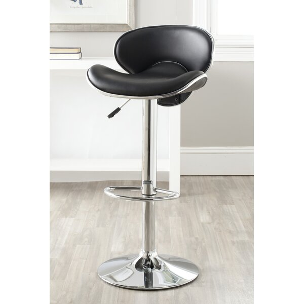 Rebbecca Adjustable Height Swivel Bar Stool By Orren Ellis
