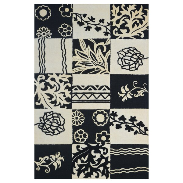 Wool Hand-Tufted Ivory/Black Area Rug by Eastern Weavers