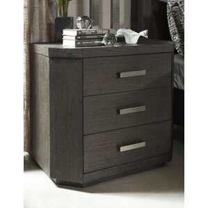 Chelsea Loft 3 Drawer Nightstand by Fairfax Home Collections