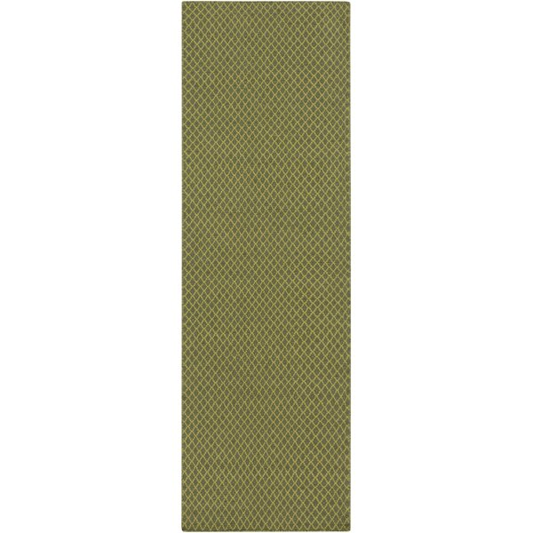 Walton Hand-Woven Wool Lime/Olive Area Rug by Union Rustic