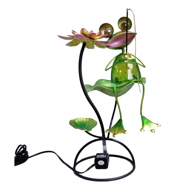 Frog Glass/Metal Tabletop Fountain by Continental Art Center