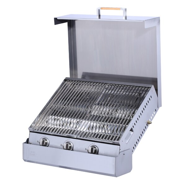3-Burner Built-In Flat Top Natural Gas Grill by Space Grill