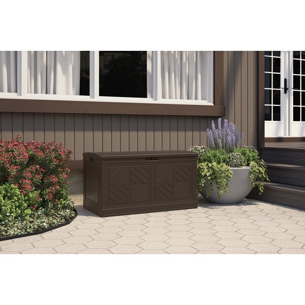 Outdoor 80 Gallon Resin Plastic Deck Box By Suncast