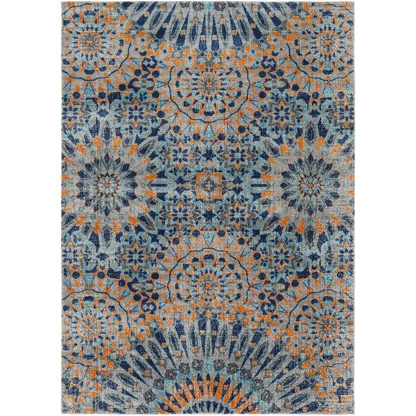Arabi Blue/Orange Area Rug by Bungalow Rose