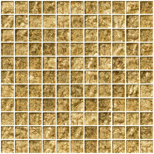 1 x 1 Glass Mosaic Tile in Tahitian Bronze by Susan Jablon