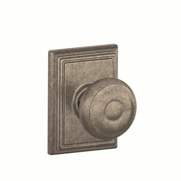Interior Non-Turning Georgian Knob and Interior Inactive Deadbolt Thumbturn with Addison Trim by Schlage