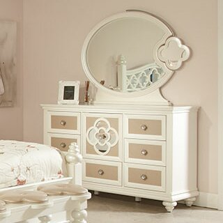 Paris 7 Drawer Combo Dresser with Mirror by Najarian Furniture