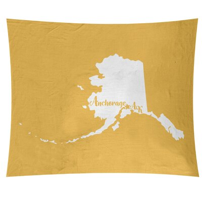 Anchorage Alaska Wall Tapestry East Urban Home Size 88 H X 104 W Color Yellow Shefinds