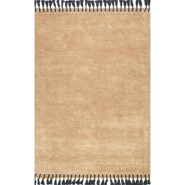 Berrechid Hand-Tufted Gold Area Rug by Bungalow Rose