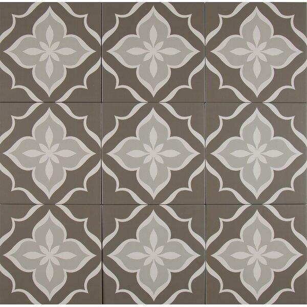 Kenzzi La Fleur 8 x 8 Porcelain in Gray by MSI
