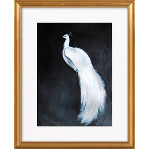 'White Peacock' Framed Print by Mercer41