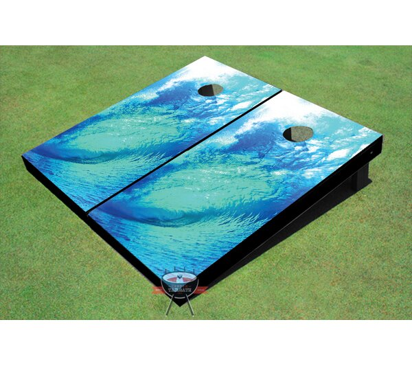 Big Wave Cornhole Board (Set of 2) by All American Tailgate