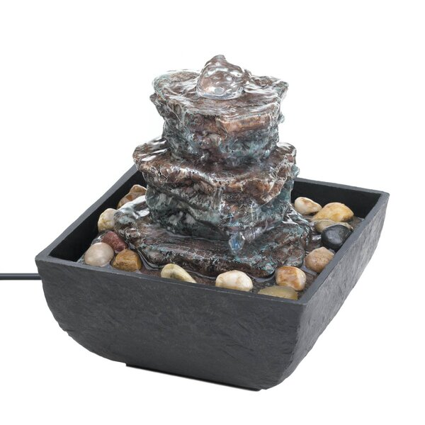 Rock Tower Tabletop Fountain by Zingz & Thingz