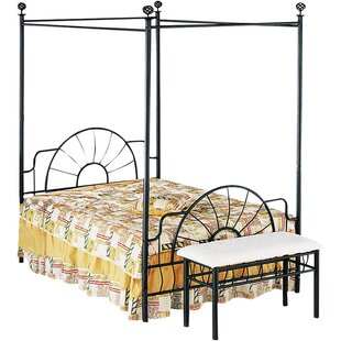 Moyer Metallic Rail Bed by August Grove