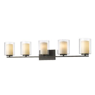 Clearance Cheyne 5-Light Vanity Light By World Menagerie