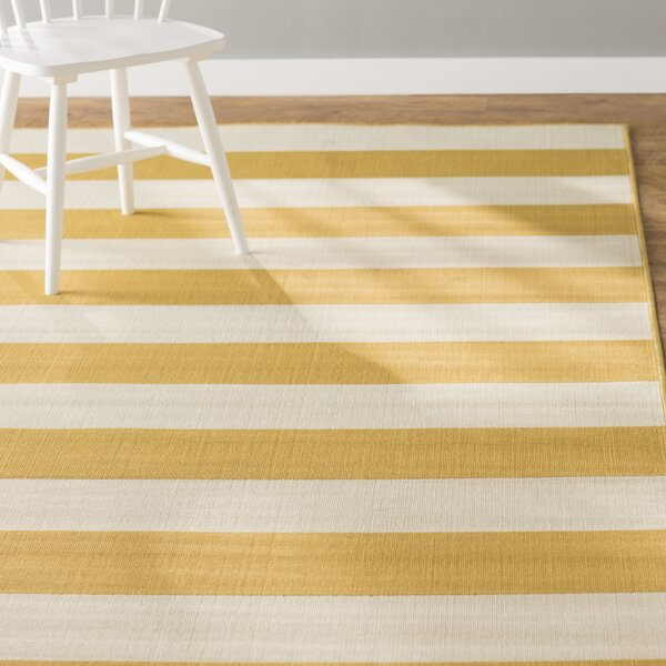 Alford Power Loomed Yellow Indoor/Outdoor Area Rug by Andover Mills