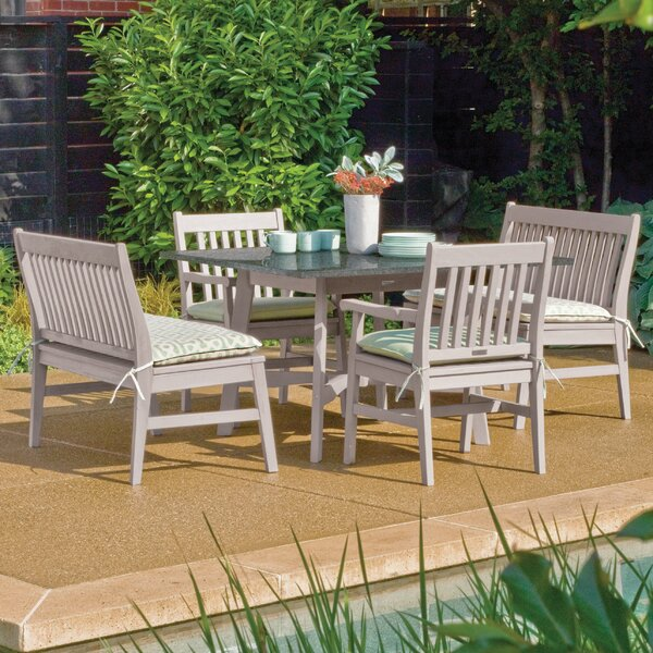 Laney 5 Piece Weather Resistant Dining Set by Breakwater Bay