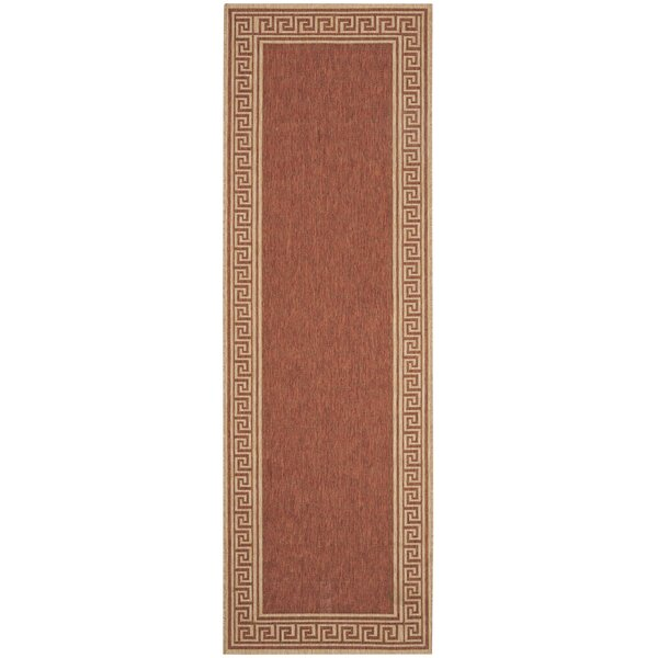 Martha Stewart Byzantium Greek Key Terracotta/Beige Area Rug by Martha Stewart Rugs