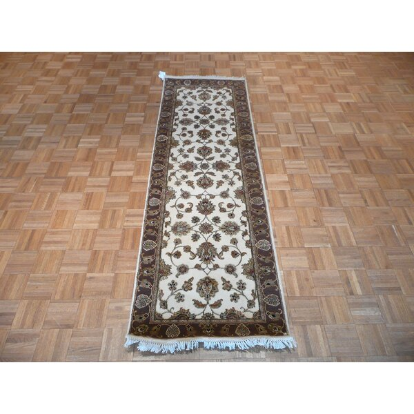 One-of-a-Kind Rhyne Hand-Knotted Ivory/Brown Area Rug by Astoria Grand