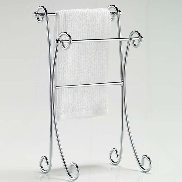 Two Tier Curled Free Standing Towel Stand by Wildon Home ®