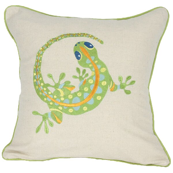 Archipelago Gecko Throw Pillow by Manor Luxe