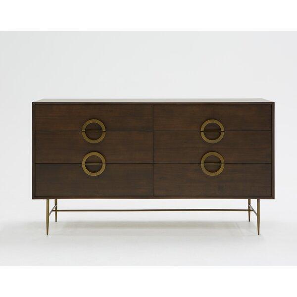Eatmon Acacia 6 Drawer Double Dresser by Brayden Studio