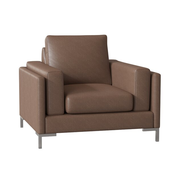 Lage Leather Armchair By Wrought Studio