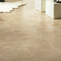 Stones and Ceramics 15.94 x 47.75 x 8.3mm Tile Laminate Flooring in Limestone Tawny Beige by Armstrong Flooring