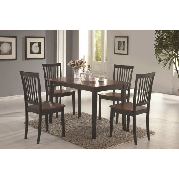 Pugh Sturdy Wooden 5 Piece Dining Set by Charlton Home