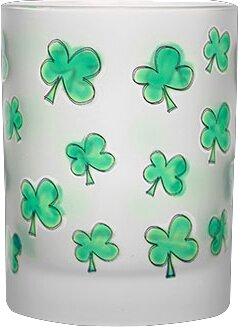 Duong Frosted Shamrocks 14 Oz. Double Old Fashion Glass (Set of 4) by The Holiday Aisle