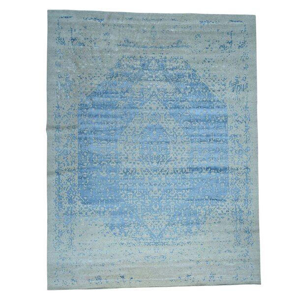 One-of-a-Kind Bagwell Hand-Knotted Silk Area Rug by Isabelline