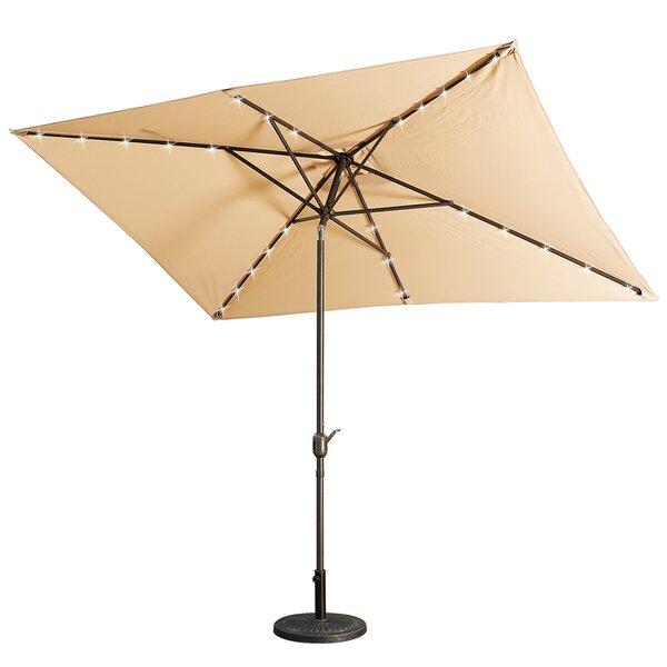 Thibodeau 10' X 6.5' Rectangular Market Umbrella By Highland Dunes by Highland Dunes Today Sale Only