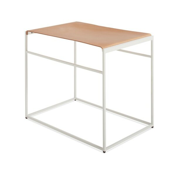 Common Leather Sling Stool by Blu Dot
