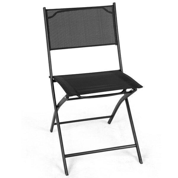Hilmer Folding Patio Dining Chair by Ebern Designs