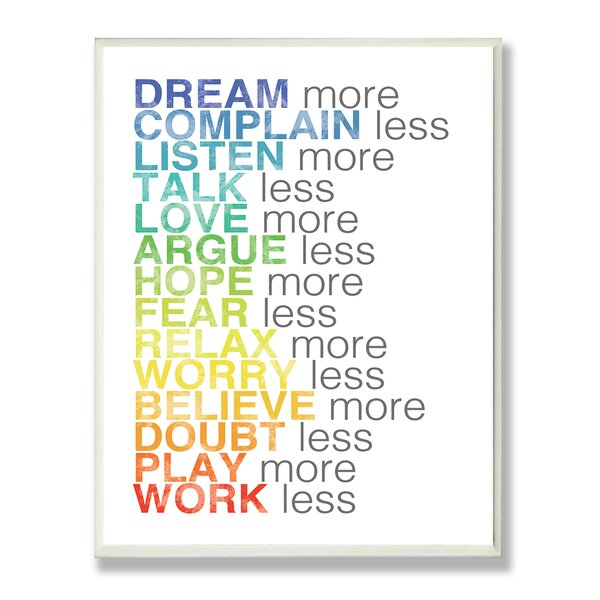 Dream More Typography Wall Plaque by Stupell Industries