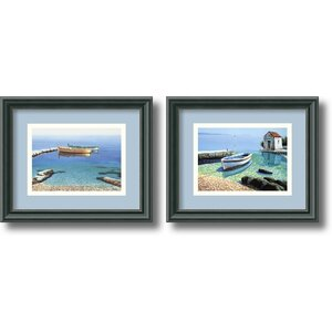 'Peaceful Morning' by Frane Mlinar 2 Piece Framed Photographic Print Set (Set of 2) by Amanti Art
