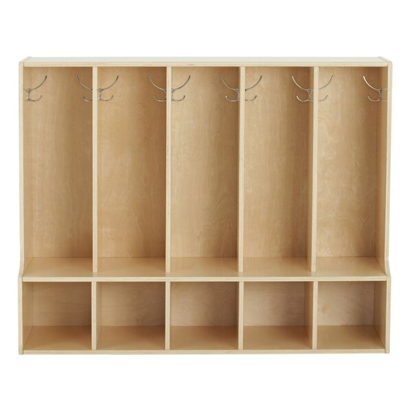 Birch Streamline 5 Section Coat Locker with Bench by ECR4kids